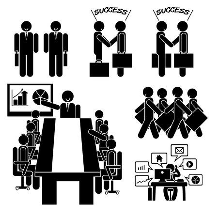 Bedrijfspictogrammens op geïsoleerde achtergrond