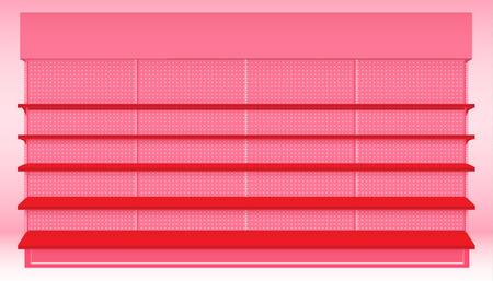 Supermarkt Plank voor Valentijnsdag evenement. Vector. illustratie Stock Illustratie