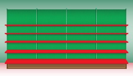 Supermarkt Plank voor Kerstfeest. Vector. illustratie Stock Illustratie