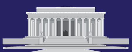 Lincoln Memorial Center - Detailed Vector illustration