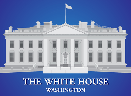 White House - detailed vector illustration