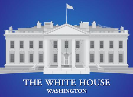 Witte huis - gedetailleerde vectorillustratie
