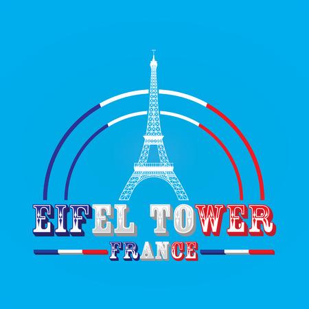 Eifel Tower Element Design. Vector Illustration