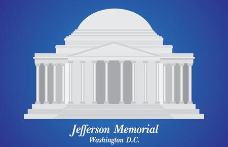 ジェファーソン記念館、ベクトル イラストの詳細  イラスト・ベクター素材