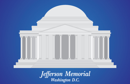 Jefferson Memorial, Detailed Vector Illustration Ilustrace
