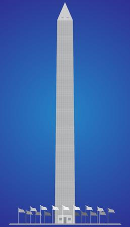 Washington Monument gedetailleerde vectorillustratie