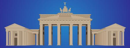 Brandenburger Tor - Gedetailleerde vectorillustratie Stock Illustratie
