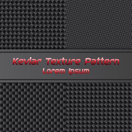 Koolstof Kevlar Textuurpatroon. Vectorillustratie Stock Illustratie