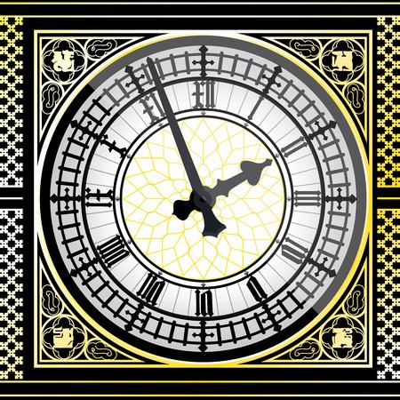 ベクトル イラスト - ビッグ ・ ベンの時計の詳細  イラスト・ベクター素材
