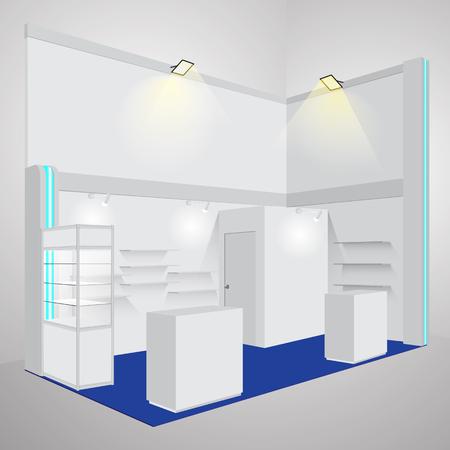 Exposición de la cabina vacía. Ilustración del vector Ilustración de vector