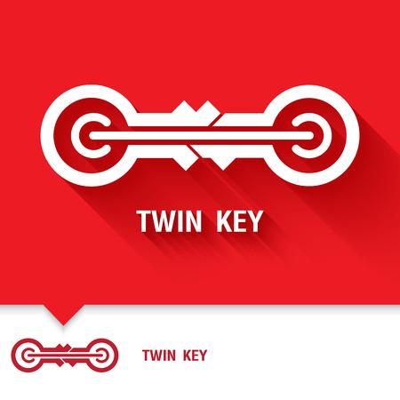 nuke: Logo elements template design. Power Key symbols icon. Vector illustration.