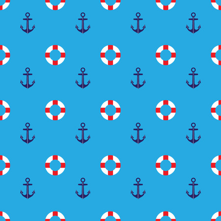Pattern anchor and lifebouy for screen vector illustration.