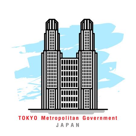 Illustrator van Tokyo Metropolitan Goverment. Vector illustratie