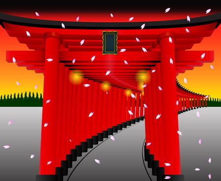 Torii gate on set BG.