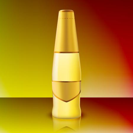 Glass of Bottle wine. Vector Illustration Illustration