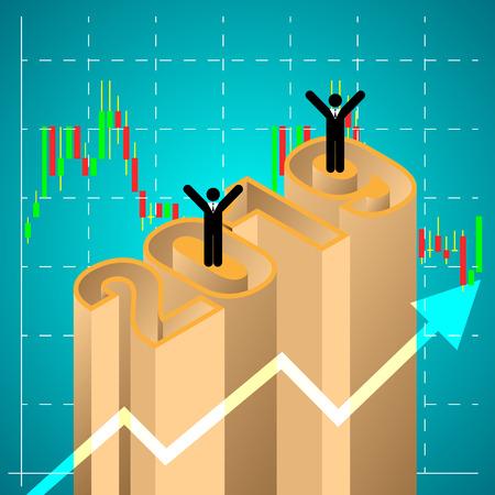 marketing plan success in 2019. vector illustration