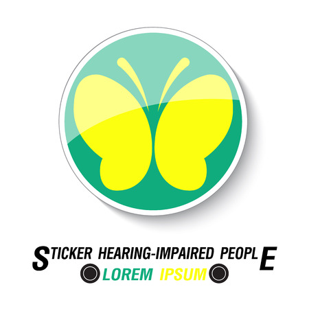 Sticker for Hearing Impaired drivers, vector illustration 일러스트