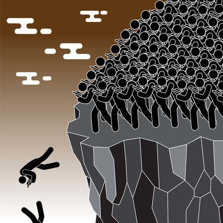 Trap social concept. vector illustration