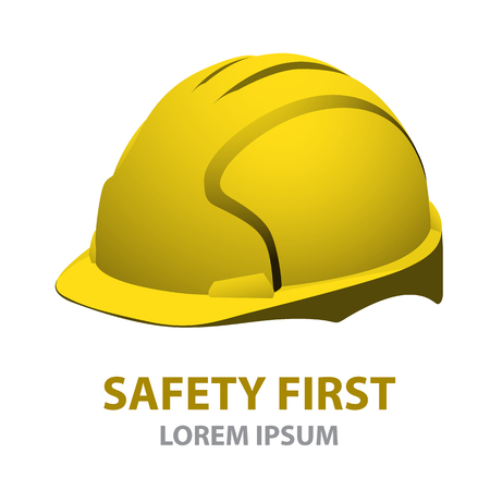 Helmet Safety isolated on white background.vector illustration
