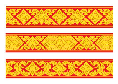 thai style background. vector illustration