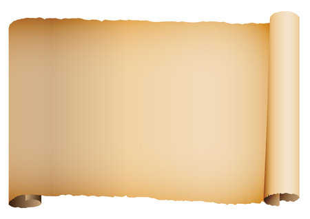 Background illustration of old roll paper scroll