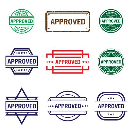 approved stamp Set. approved sign. Vector illustration