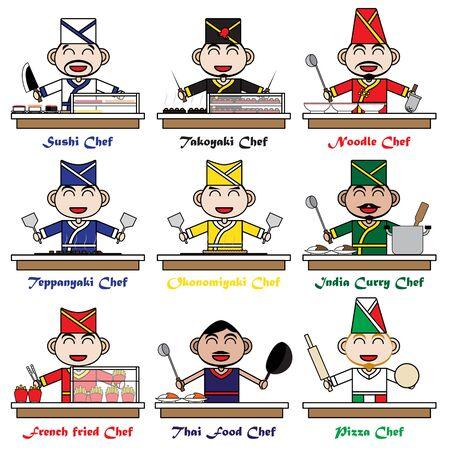Character Cartoon Chef of National Foods Banco de Imagens - 125907892