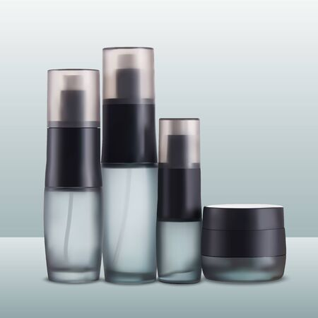set of containers for cosmetics. Vector Illustration