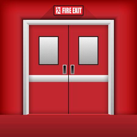Fire Exit Door. Vector Illustration 일러스트