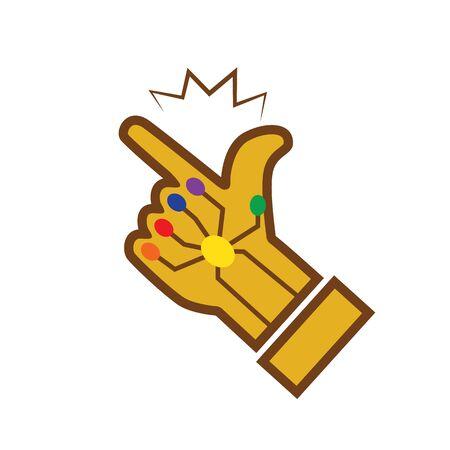 Broche de guante Icon Gold. ilustración vectorial