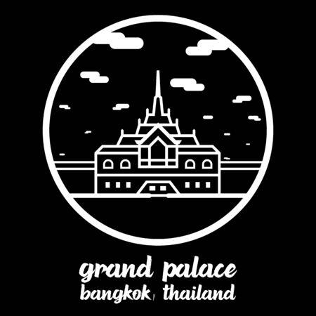 Circle icon line Grand Palace. vector illustration