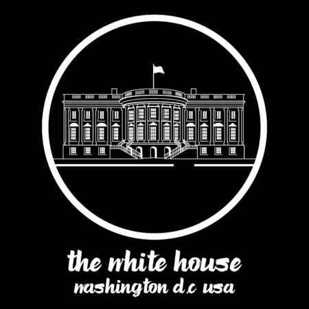Circle Icon white house. vector illustration Standard-Bild - 133111282