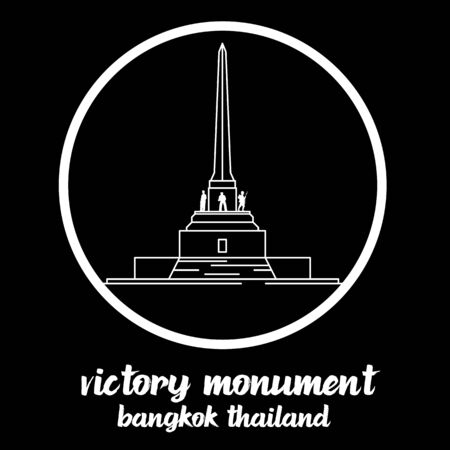 Circle Icon Victory Monument thailand. sign symbol. vector illustration 일러스트