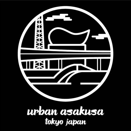 Circle icon line urban Asakusa. vector illustration 向量圖像