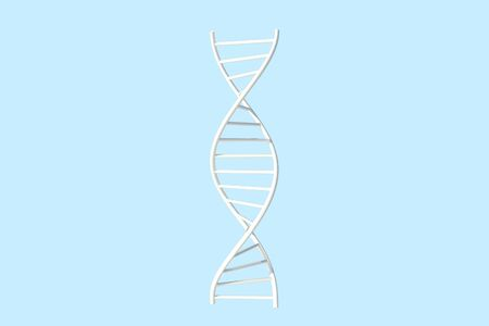 3D Illustration of Deoxyribonucleic acid or DNA Double Helix and Polynucleotide style on blue background