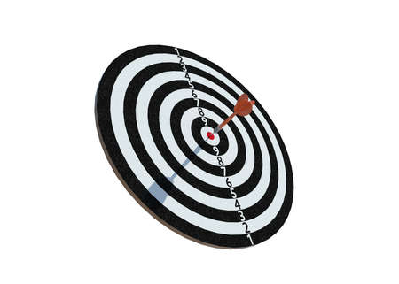 3D Illustration Isolated Dartboard on white background