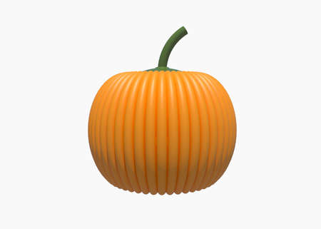 3D Illustration Emotion pumpkin for web design isolated on white background with clipping path - Halloween Concept. Archivio Fotografico