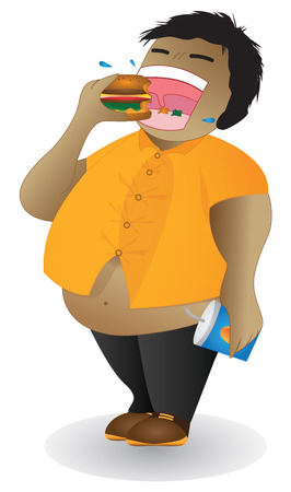 weighty: Harm from junk food Junk food has good taste But you need to be careful because it may lead you to face with several harm such as fatness  Illustration