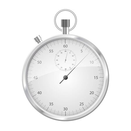 Front view of a stopwatch isolated on white