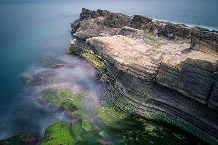 scenic spots: Huge Rock at Chaojing Park in Zhongzheng District, Keelung, Taiwan.