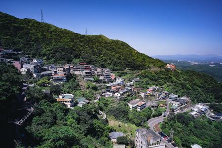 Jiufen  Chiufen, Taiwan - April 29, 2017: Jiufen  Chiufen is a famous scenic in Ruifang District, New Taipei City, Taiwan. Stock Photo