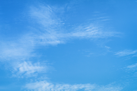 Blue Sky with Clouds, Background Material. Stock Photo