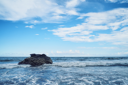 Waiao Coast Landscape from Waiao Beach in Toucheng Township, Yilan, Taiwan. Stock Photo