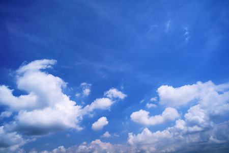 Blue Sky with Clouds on Sunny Day.
