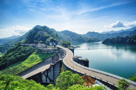 Shihmen Dam in Fuxing (or Daxi) District, Taoyuan, Taiwan.