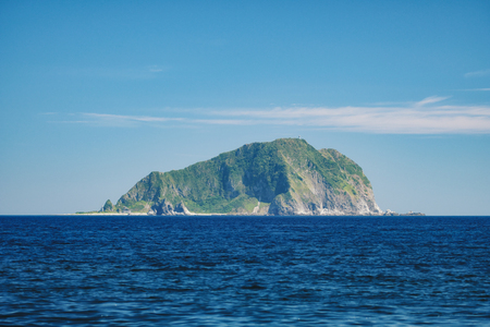 Keelung Seascape - Famous Keelung Islet with morning blue bright sky, shot from Daping Coastal in Zhongzheng District, Keelung, Taiwan.