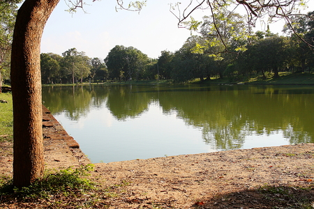 anuradhapura: Anuradhapura Sri Lanka pond