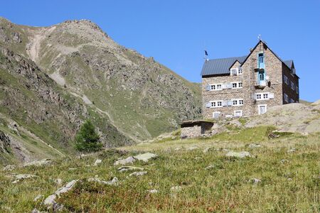refuge: Mountain hut in the Italian Alps (Migliorero refuge)