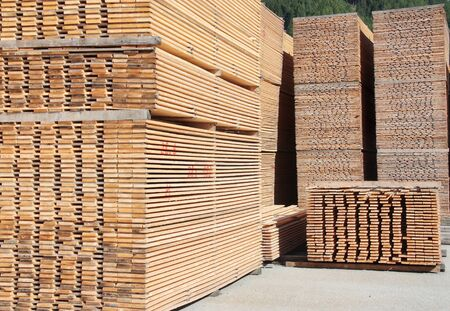 wooden boards: Stack of wooden boards