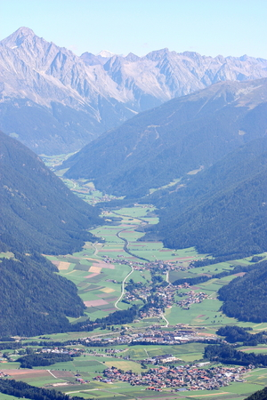Aerial view of Anterselva Valley South Tyrol Italy